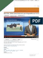 Strahlenwaffen - YouTube - Briten rüsten Polizei mit Laser Kriegswaffen (mit Bild und YouTube Video)