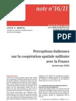Perceptions italiennes sur la coopération spatiale militaire avec la France