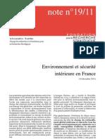 Environnement et sécurité intérieure en France