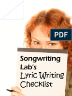 Songwriting Labs - Lyric Writing Checklist