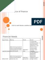 Source of Finance