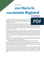 Pasos Hacia La Autonomia Regional - Resumen