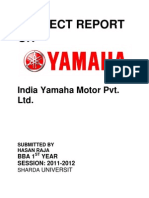 Project Report on Yamaha