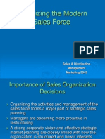 Organizing the Modern Sales Force