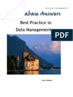 Best Practice in Data Management