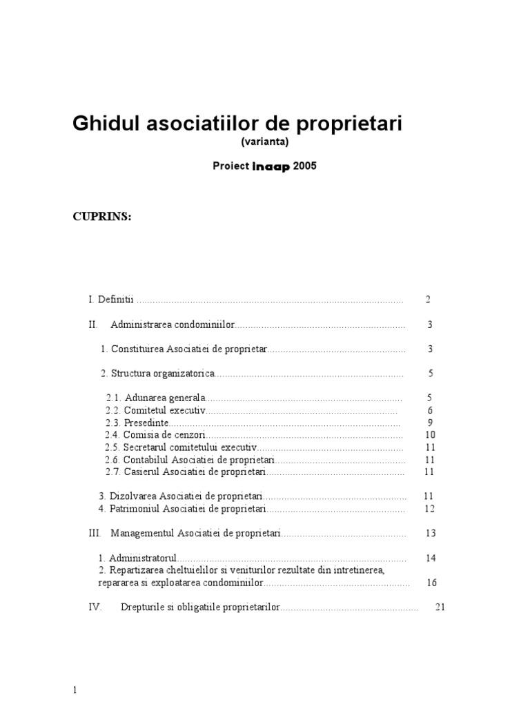 Legea Asociatiilor De Proprietari Actualizata 2013 Epub
