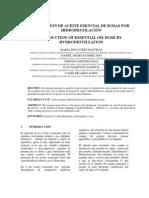 OBTENCIÓN DE ACEITE ESENCIAL DE ROSAS POR HIDRODESTILACIÓN (FINAL)