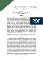 Studi Empiris Theory of Planned Behavior Dan Pengaruh Kewajiban Moral Pada Perilaku Ketidakpatuhan Pajak Wajib Pajak Orang Pribadi