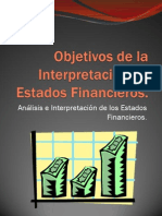 Objetivos de la Interpretación de Estados Financieros
