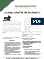 Gacetilla de Prensa Congreso Virtual Mundial eLearning