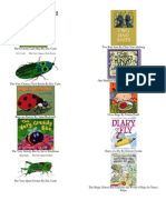 Insect Theme Book List