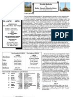 St. Joseph's April 15, 2012 Bulletin