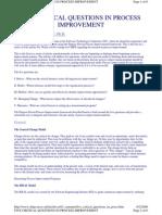 5 Critical Questions for Process Improvement - I