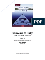 From Java to Ruby Book Summary