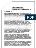 Impact of Educational Advertisement on Students