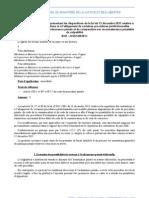 Circulaire du 20 mars 2012 présentant les dispositions de la loi du 13 décembre 2011 relative à  la répartition des contentieux et à l'allègement de certaines procédures juridictionnelles