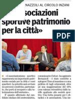 Incontro con le associazioni sportive- Gazzetta di Parma-03/04/12