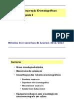 Aula 5 - Técnicas cromatográficas I