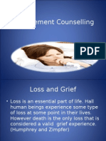 Bereavement Counselling