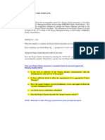 Pmbok Project Charter Template