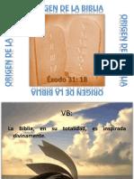 Origen de La Biblia 9 de Octubre