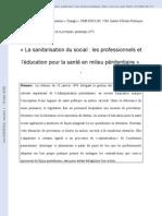 Education Pour La Sante en Prison. Article Lien Social Et Politiques