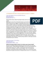 EB 2012-  Experimental Biology - Dr. Rao Papineni