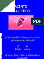 PPT ACENTO DIACRÍTICO SEXTOS BÁSICOS