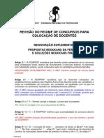 Revisao Regime Concursos Negociacaosuplementar - Propostas Fenprof e Solucoes Negociais Finais