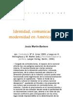 Identidad comunicación y modernidad en América Latina