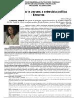 Excelente artigo de Helena Chagas sobre a deontologia da entrevista jornalística