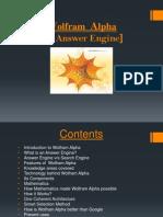 Wolfram Alpha - An Answer Engine