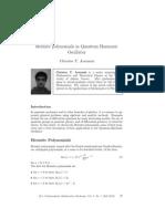 HermitePolynomials in a Quantum Harmonic Oscillator