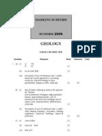 Geology 06 Mark-Scheme