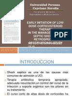 Corticoides en Shock Septico Estudio 2012