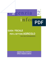 Guida Fiscale Per Il Settore Agricolo _Agenzia Delle Entrate
