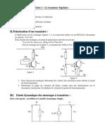 TD 01 Transistors Bipolaires