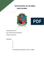 Parte Del Informe- Movimiento de Proyectiles