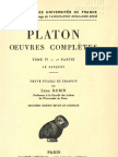 Platon - Oeuvres Completes - Belles Lettres - Tome IV.2 - Le Banquet