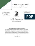 The Q'uo Transcripts 2007 [to 5-20] - Rueckert-Elkins