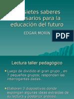 Diapositivas 7 Saberes de La Educacion