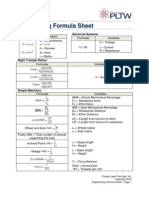 Engineering Formula Sheet