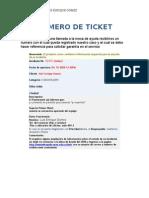 3-Numero de Ticket