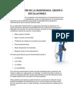 CLASIFICACIÓN DE LA MAQUINARIA