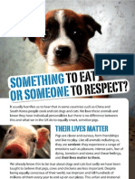 Something to eat or someone to respect?