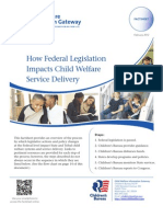 How Federal Legislation  Impacts Child Welfare  Service Delivery