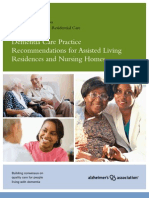 Dementia Care Practice Recommendations for Assisted Living Residences and Nursing Homes Phases 1 2