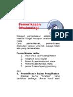 2. Permeriksaan Oftalmologi