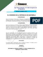 Reformas CP - Delitos Electorales - Decreto 4-2010