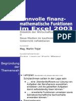 Präsentation Finanzmathematik